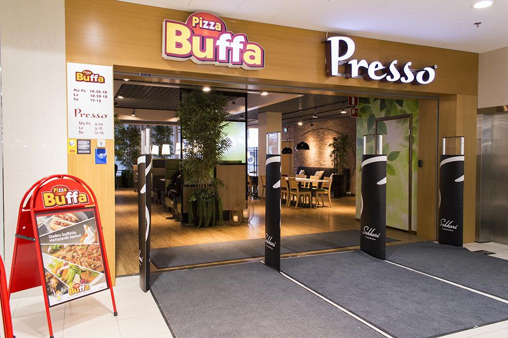 Kauppakeskus Sokkari - Buffa ja Presso
